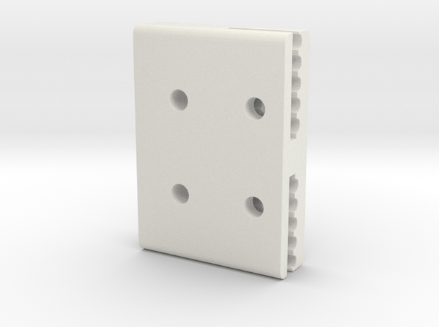 Xcarriagebeltclamp Fixed in White Natural Versatile Plastic