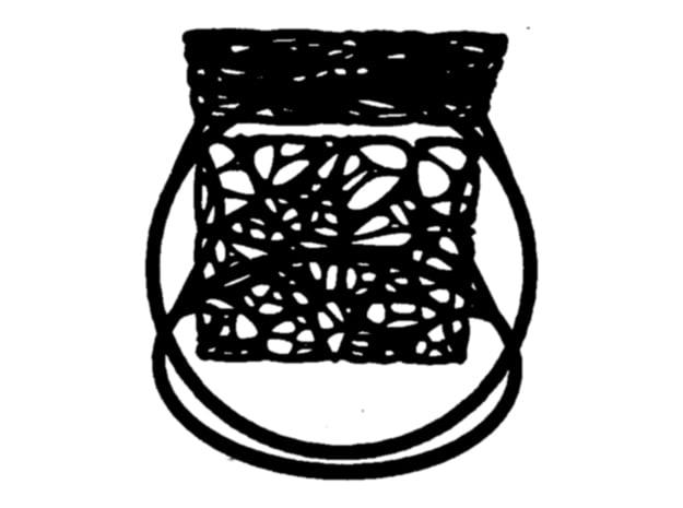 Abstract13 Bracelet in Black Natural Versatile Plastic