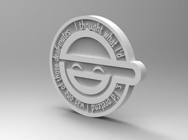 laughing man pin in White Natural Versatile Plastic