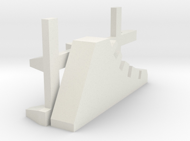 1-144 Scale Road Block Dragon Teeth (needs 2) in White Natural Versatile Plastic