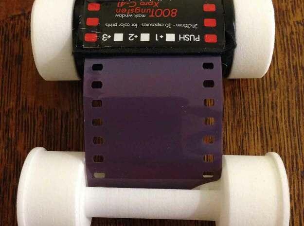 120 Takeup Spool For 35mm Film in White Natural Versatile Plastic