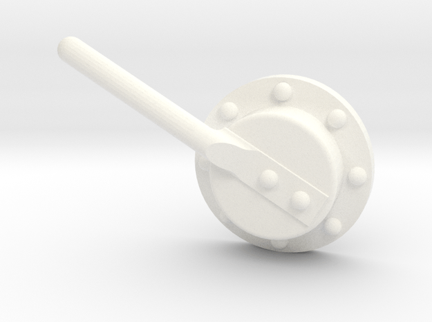 "3/4"" Scale Baldwin Smoke Box Cleanout Ver A  in White Processed Versatile Plastic"
