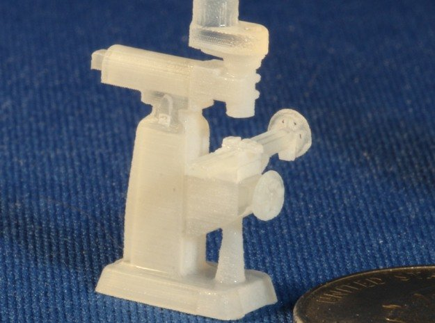 Milling Machine HO Scale 1/87 in Smooth Fine Detail Plastic