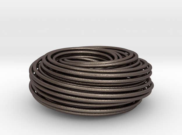 Torus Knot Knot 2 7 2 7 in Polished Bronzed Silver Steel