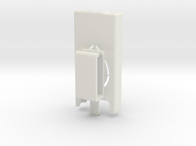 Dexcom Case w/Belt Clip SLIM in White Natural Versatile Plastic