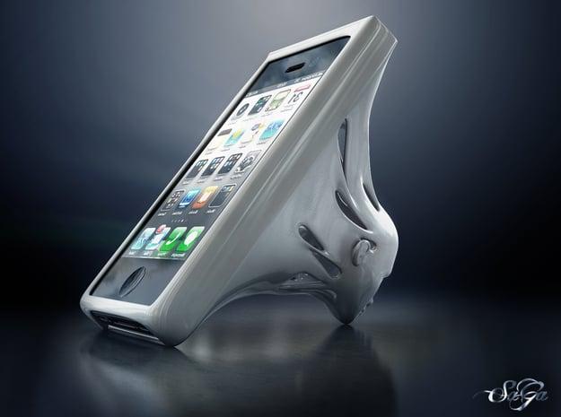 Omniscient Siri - iPhone Open Case and Stand in White Processed Versatile Plastic