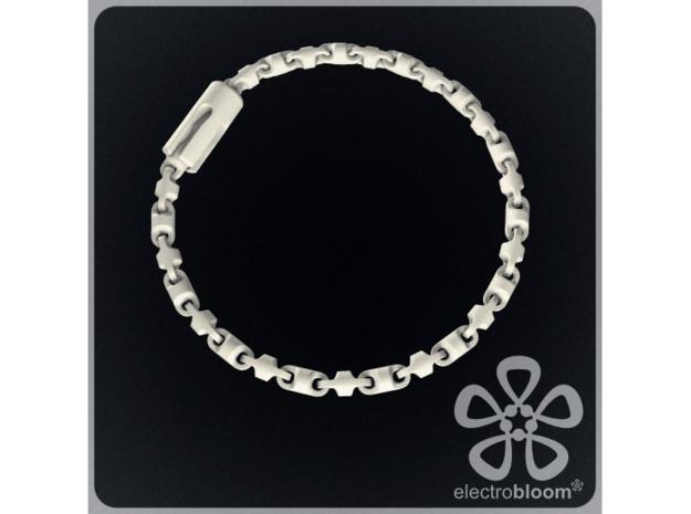 Fine barrel chain bracelet. in White Natural Versatile Plastic