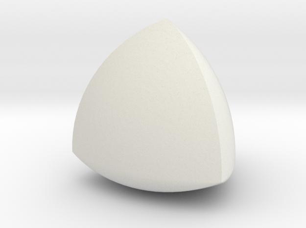 Meissner tetrahedron - Type 2 in White Natural Versatile Plastic