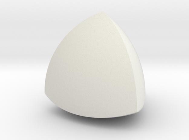 Meissner tetrahedron - Type 1 in White Natural Versatile Plastic