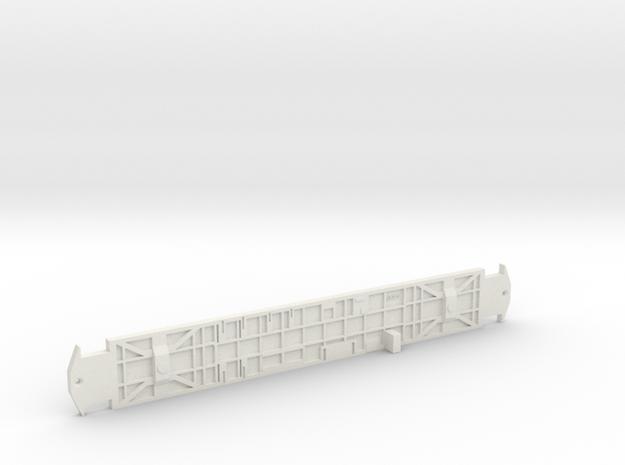 O Scale L&WV SHORT CAR FRAME in White Natural Versatile Plastic