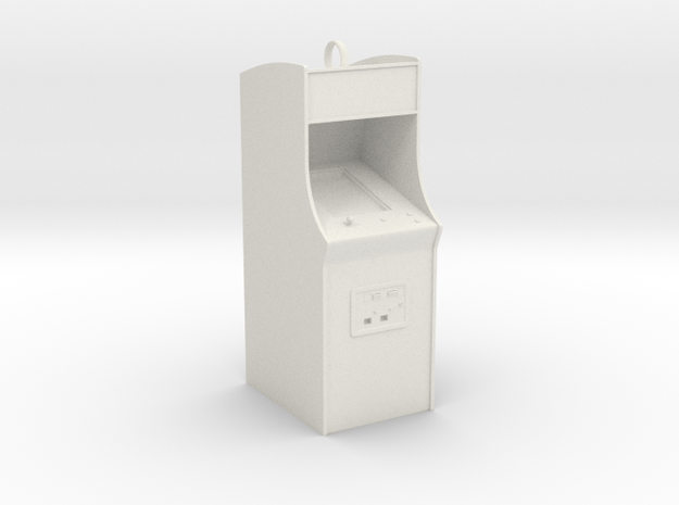 Customizable Arcade Cabinet Holiday Ornament in White Natural Versatile Plastic