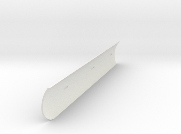 Heat Shield Stbd V0.1 in White Natural Versatile Plastic