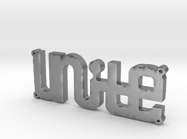 """""""UNITE"""" Bracelet Charm in Natural Silver"""