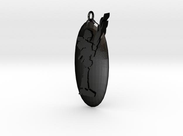 Pendentif Bionicle - Tahu in Matte Black Steel