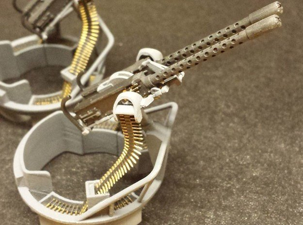 50cal Ammo Belts, multiple scales in Smooth Fine Detail Plastic: 1:20