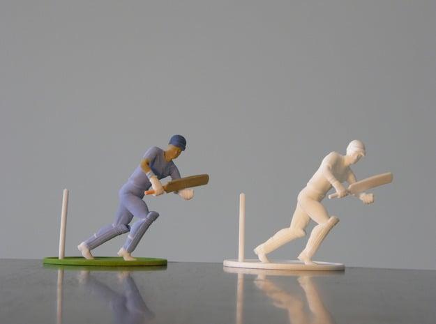 "5"" cricket player model in White Natural Versatile Plastic"