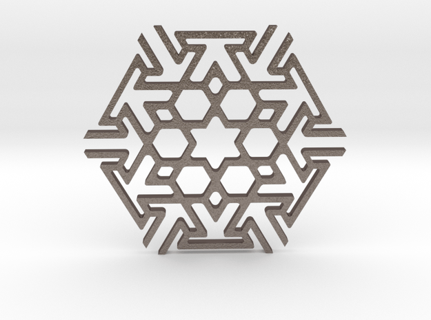 Tileable Coaster - No2 in Polished Bronzed Silver Steel