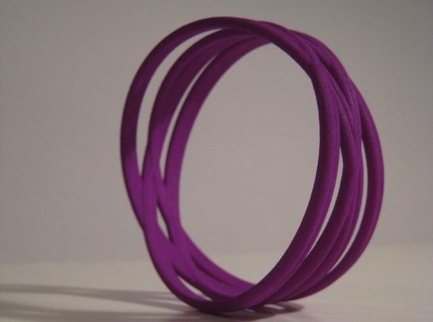 Bangle Bracelet in Purple Processed Versatile Plastic