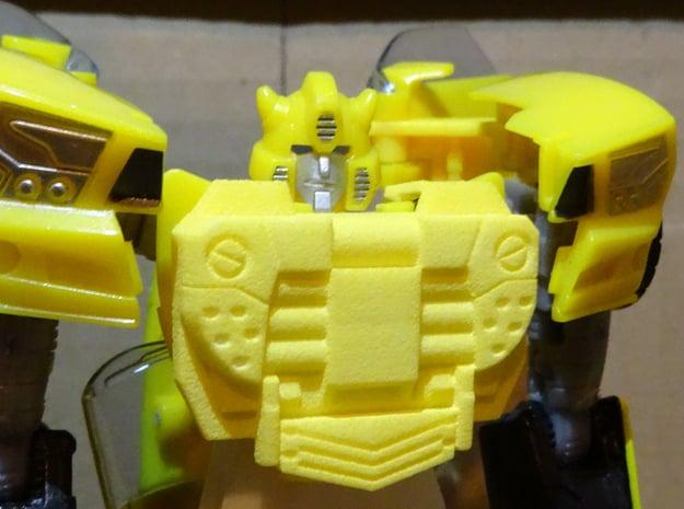 Gen. Binaltech Decepticharge Chestplate in Yellow Processed Versatile Plastic