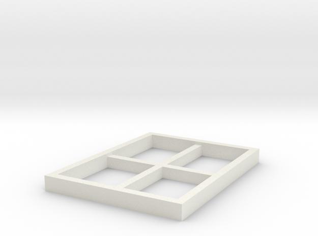 AVS Left Window in White Natural Versatile Plastic