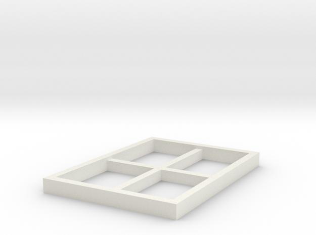 AVS Left Outr Window in White Natural Versatile Plastic