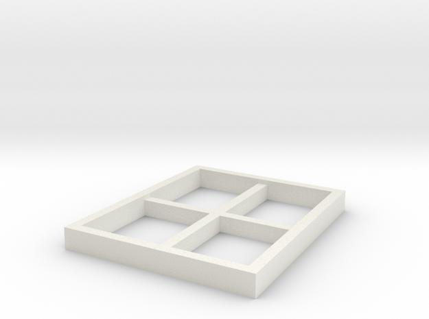 AVS Right Window in White Natural Versatile Plastic