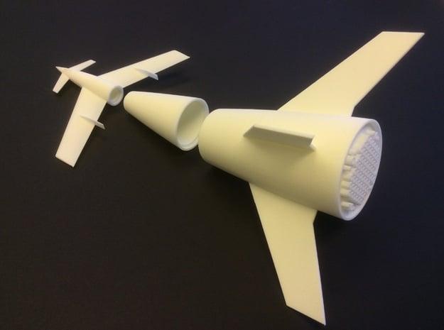 1/400 VON BRAUN ROCKET (STAGED) in White Natural Versatile Plastic