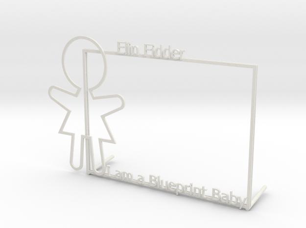 Custom Picture Frame in White Natural Versatile Plastic