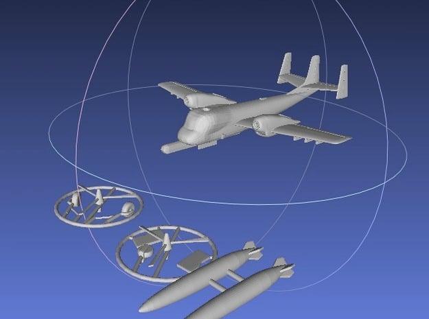 1/144 OV-1B Mohawk in Smooth Fine Detail Plastic