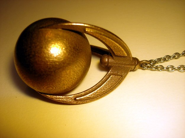 Ball And Claws (large) Pendant in Polished Bronzed Silver Steel