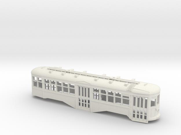 S Scale BQ&T 8000-Series Peter Witt BODY in White Natural Versatile Plastic