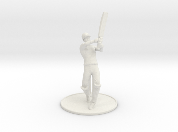 T20 Batsman  in White Natural Versatile Plastic