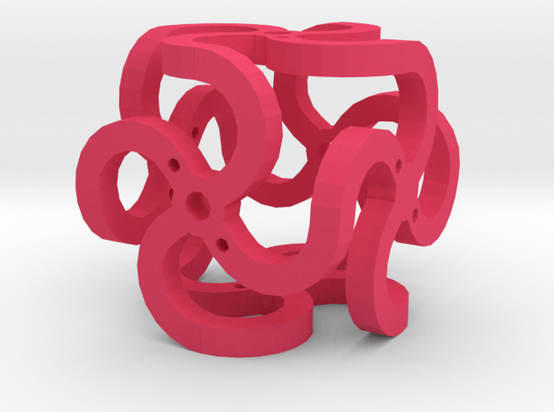 Dice58 in Pink Processed Versatile Plastic