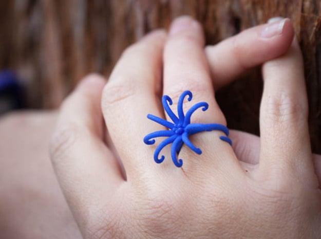 Airis Flower Rings - Various Sizes in Blue Processed Versatile Plastic