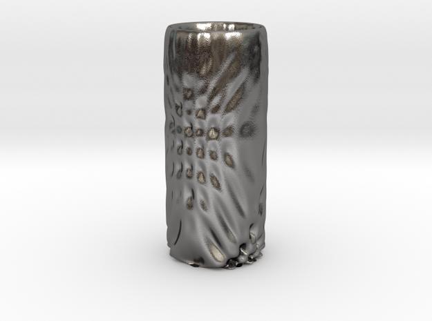 Vase 6 in Polished Nickel Steel