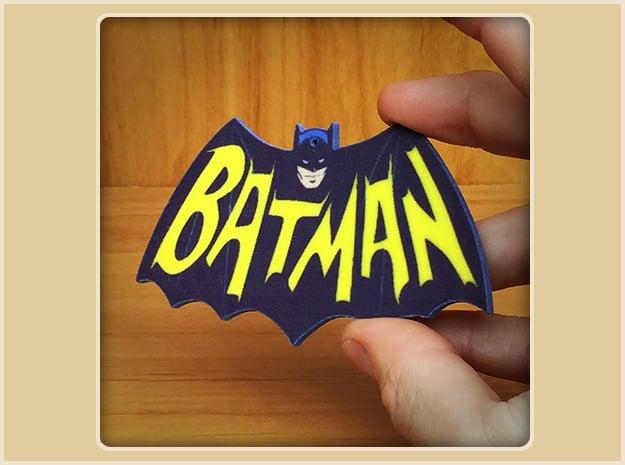 Bat-logo Ornament in Full Color Sandstone