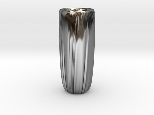 Vase 9 in Fine Detail Polished Silver
