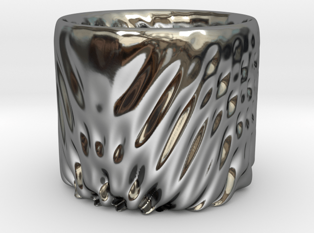 Bowl 8 in Fine Detail Polished Silver