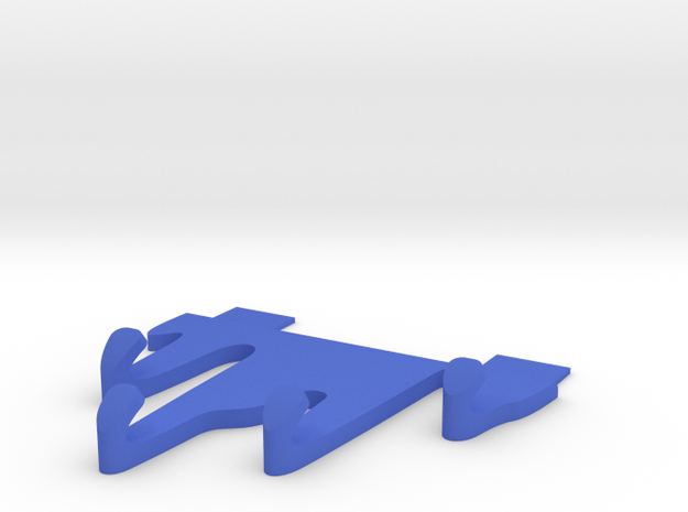 Liquid Spill Shaped Hook in Blue Processed Versatile Plastic