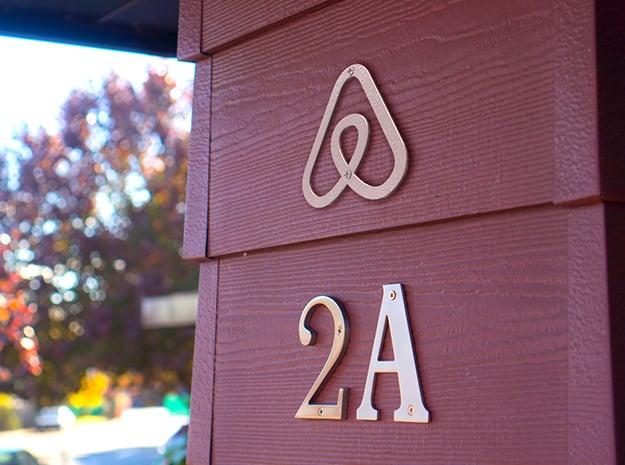 Airbnb House Symbol in White Natural Versatile Plastic