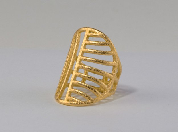 Le Soleil d'Or - Size 8 in Polished Gold Steel