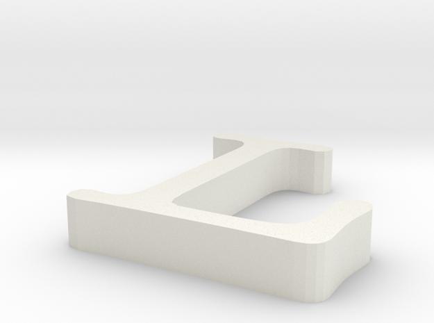 L Letter in White Natural Versatile Plastic