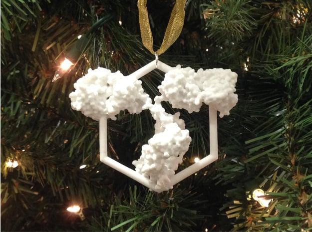 Antibody Ornament in White Processed Versatile Plastic