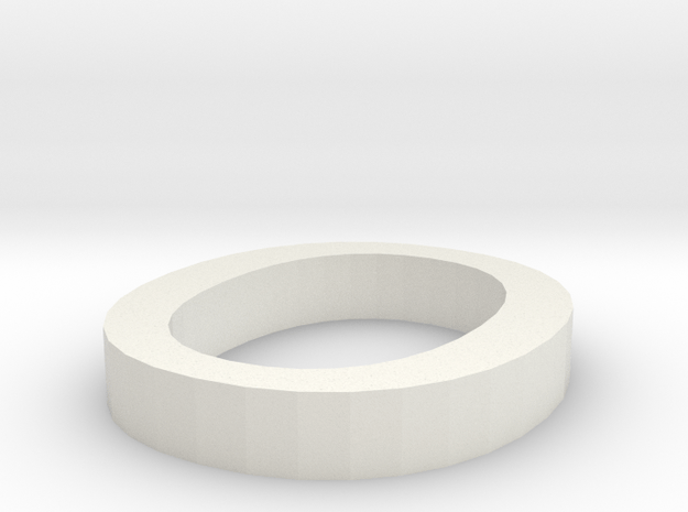 O Letter in White Natural Versatile Plastic