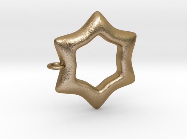 Ciondolo Stella 001 in Polished Gold Steel