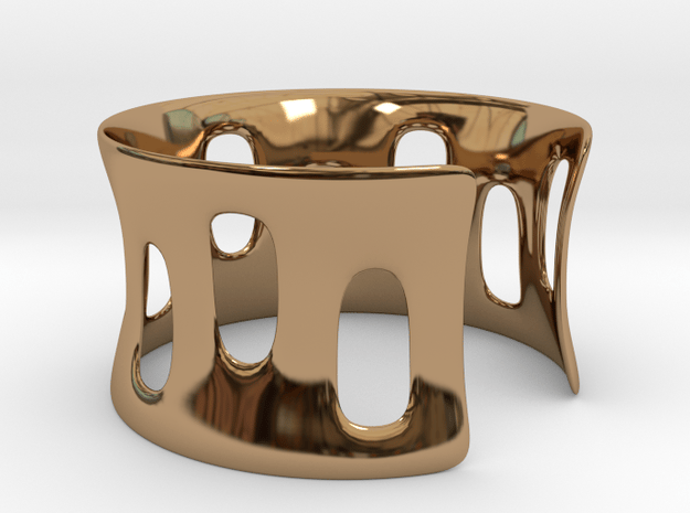 Bracciale001 in Polished Brass