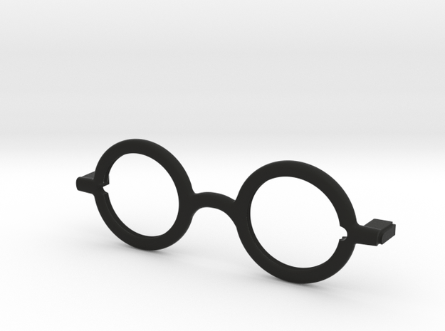 Circle frame front. in Black Natural Versatile Plastic