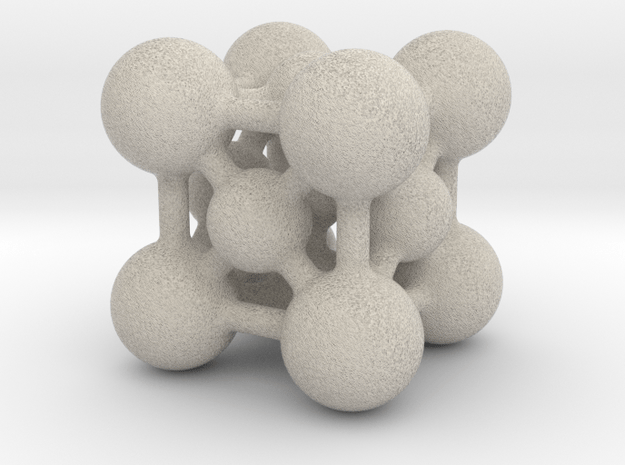 Perovskite (ABO3) Crystal Structure (5cm) in Natural Sandstone