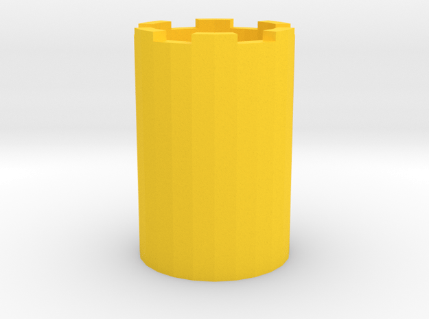 Smiley Face Pen Holder or Pencil Cup in Yellow Processed Versatile Plastic