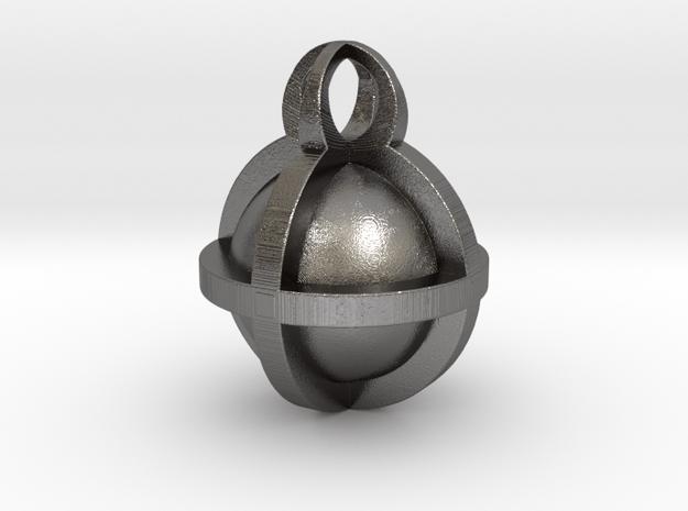 Pendant Sphere 30mm in Polished Nickel Steel